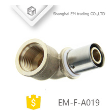 EM-F-A019 Conector de unión hembra Conector de latón de acero inoxidable