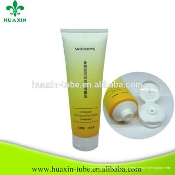 tubo cosmético del PE del limpiamiento facial vacío barato al por mayor para la venta