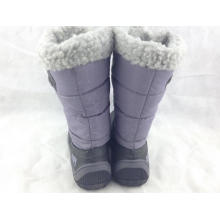 2015 good quality best price PU sole fuzzy wholesale children rubber boots