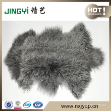 Piel mongol rizada del cordero de la forma natural al por mayor del pelo largo
