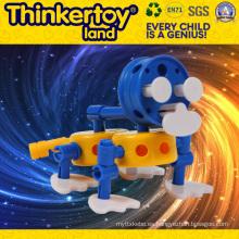 Juguete de ladrillo de construcción intelectual de plástico para niños