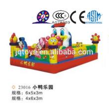 JQ23016 Diapositivas inflables para la venta, juguete inflable, diapositiva gigante inflable con el carril doble