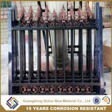 Galvanized Picket Weld Fence / Ornamental Iron Steel / Metal Picket Fence