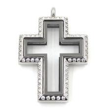 Fashion Keepsake Cross Stainless Steel Jewelry Locket Pendant