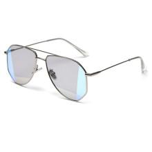 Latest Fashion Unisex Irregular Color Film UV400 Custom Polarized Sunglasses With Metal Square Frame