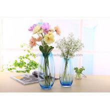 Alto, manchado, vidro, vaso, flor
