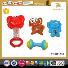 Juguete del juguete del bebé del plástico 4pcs