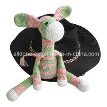 Hand Crochet Donkey Stuffed Animal Toy Doll Baby Gift