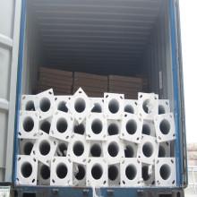 Q235 Galvanizado mergulho quente de Alta qualidade octogonal postes de luz de rua cônica fabricantes de braço duplo na china