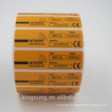 Rolo personalizado da etiqueta da etiqueta do PVC da fabricação da fabricação com adesivo permanente