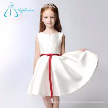 Cheap Short A Line Sash Bow Satin Flower Girl Dress Patterns