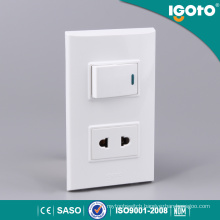 Igoto American Type New Design One Gang Wall Switch and Socket 125V