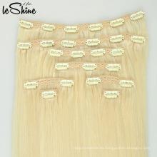 Promoción de las ventas de Navidad Clip de trama de la piel de la PU inconsútil en la extensión del pelo
