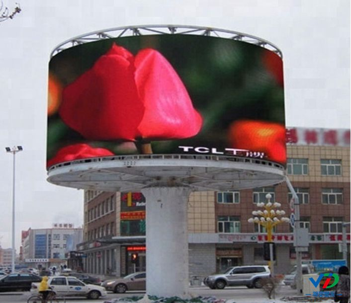 Pole Support Advertising Outdoor Led Large Screen Display