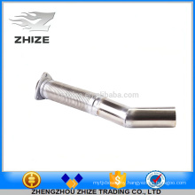 Bus part engine stainless steel flexible exhaust pipe for Yutong
