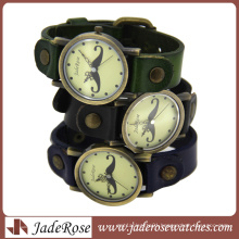 Fashion Digital Lady′s Leather Watch Strap Wholesale Leather Watch