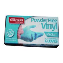 100pk Powdered Free Blue Vinyl Glove