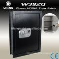 Wall mount safe deposit box
