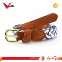 New design braided cotton rope belt