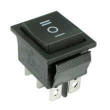 on/off/on Large Black Rectangle Rocker Switch 6-Pin Dpdt 12V