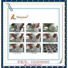 Anillo de acero inoxidable de fieltro de no tejidos / aguja Bolsas de filtro de PP para la filtración de polvo