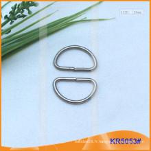 Boucles métalliques en métal de 20 mm, régulateur métallique, anneau en D en métal KR5053