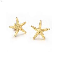 Мода Золотая Звезда серьги,золотые серьги для женщин