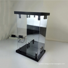 """LED Light Showcase Box with Mirrored Back Panel for 12"""" 1/6 Scale Action Figure Acrylic Display Case"""