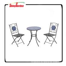 Set de 3 piezas mosaico Bistro con 2 sillas