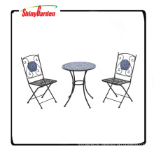 3 Piece Mosaic Bistro Set With 2 Chairs