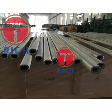 Stainless Flat Elliptical Decorative Handrail Welded Tube