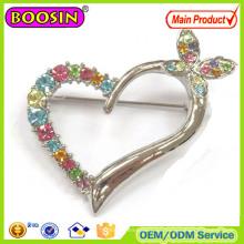 Pin de broche de uso diario, Pin de broche en forma de corazón cariñoso de diamantes de imitación