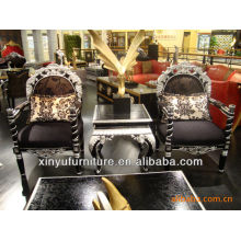 Armrest wooden chair and table sets XYD107