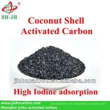 Kokosnussschalen-Aktivkohle für Gold Mining