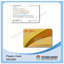 Discount Plastic Card/Custom Plastic Playing Card/Business Plastic PVC Member Card