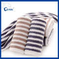 Pure Cotton Muji Simple Style Solid Yarn Dyed Strip Color Towel