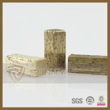 Elemento de seis segmentos de diamante para mármol, corte rápido