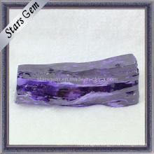 Amaranth Synthetic Cubic Zirconia Gemstone Raw Material