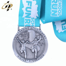 Manufacturer cheap metal embossing logo funny running medals