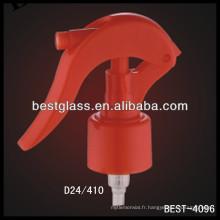 24/410 rouge bouteilles de shampooing gâchette en plastique, bouteilles cosmétiques vaporisateur déclencheurs, pulvérisateur pompe à parfum