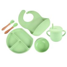 Baby Bowls Feeding Set Dinnerware Silicone Feeding Set Baby Tableware Baby Feeding Gift Set