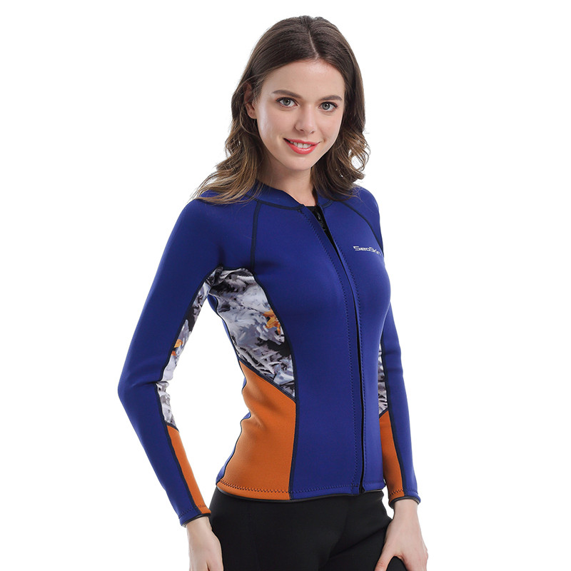 Womens Wetsuit Jacket Blue Navy
