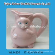2015 el recipiente de agua de cerámica más atractivo del diseño en forma del zorro con la manija grande