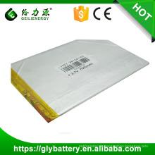 OEM da bateria do polímero de 3.7v 7000mah li