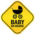 Adesivo magnetico a forma di diamante riflettente Baby On Board