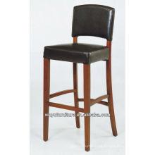 Hand wooden high PU bar stool chair XYH1005