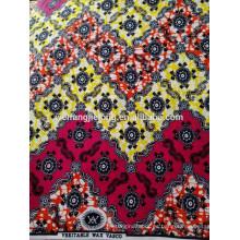 lote de 100% algodón tela africana cera imprime diseño