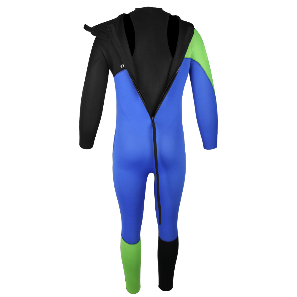 back zip wetsuits with batwing