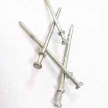 bright galvanized smooth round shank duplex head nails