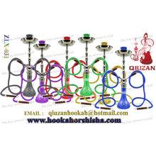 Double Hose Large Colored Vase Arabian Shisha Hookah